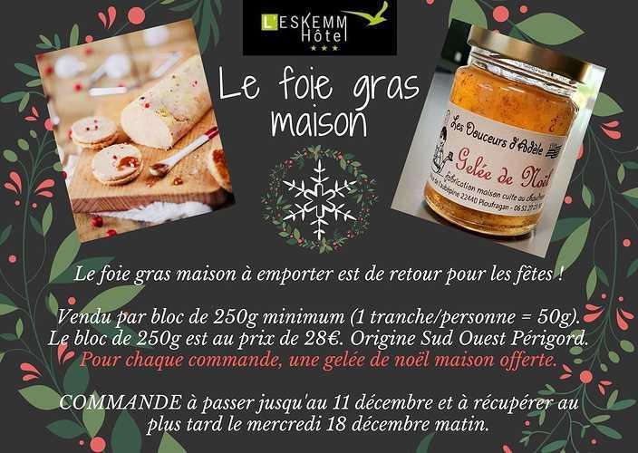 Fois gras maison à emporter - L''Eskemm à Trégueux (22) 0